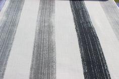 Graphite Villa Stripe Fabric By The Yard Curtain by FabricMart
