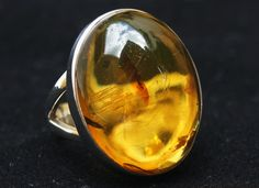 Original And Genuine Dominican Oval-Shaped Yellow And Greenish Amber .925, Sterling Silver Ring Size 7.25 Jewelry by DominicanArts on Etsy