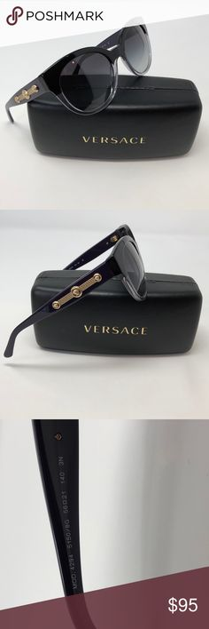 040975f528 Versace Black Crystal Purple Gold Cat Eye 🕶 Versace VE 4294 5150