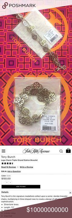 Tory Burch Multistrand Bracelet New with original packaging. Tory Burch Jewelry Bracelets