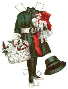 vintage NUTCRAACKER PAPER DOLLS | Dutch Christmas Decorations