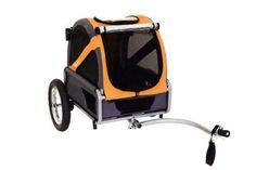 Bike Baskets and Trailers 46453: Doggyride Bike Trailer For Dogs Mini Dutch Orange Grey, New -> BUY IT NOW ONLY: $221.89 on eBay!