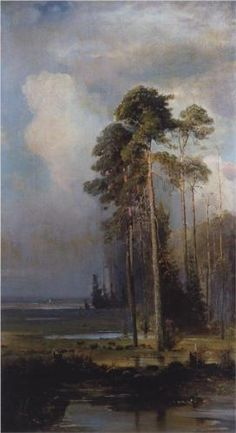 Aleksey Savrasov (Russie, 1830-1897),Automne, Sokolniki, huile sur toile, 1880