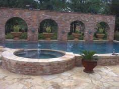 Resultado de imagem para brick swimming pool