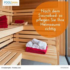 Nach dem Saunabad: so pflegen Sie Ihre Heimsauna richtig #sauna #wellness #pflege