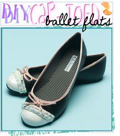 Cap-Toe Ballet Flats Glitter Fabric d90829a3b018
