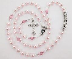 Cristal de Swarovski color rosa personalizado por RosaryGardenCathy