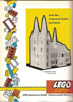 Design is fine. History is mine. Lego Therapy, Lego System, Vintage Lego, Lego Instructions, Toys Shop, Dom, Legos, Advertising, History