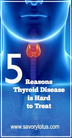 5 Reasons Thyroid Disease is Hard to Treat - #health #wellness #thyroid #thyroidhealth #thyroiddisese #hypothyroid #hormones #iodine #thyroidhormonereplacement #healthyliving