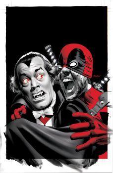 Deadpool 28 Vampire Cover art by mikemayhew
