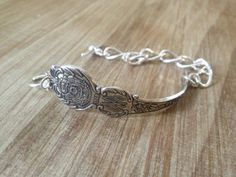 Wisconsin Silver Souvenir Spoon Bracelet on by GeorginaBaker, $36.00