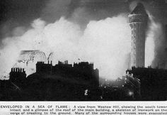 Crystal Palace fire newspaper report 1936