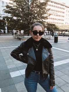 Fashion Look Featuring Madewell Denim and Monki Casual Jackets by elewithlove - ShopStyle Spring Fashion, Autumn Fashion, The Last Movie, Teen Movies, Madewell Denim, Black Sunglasses, Monki, Fashion Looks, Style Fashion