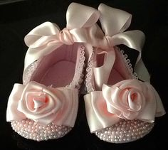 Baby Girl Dress Shoes Hand Made Wedding by Elfinacreation on Etsy, $39.99