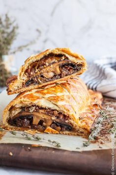 Flaky, Golden and Delicious this Vegan Mushroom Wellington is sure to take center stage at your Christmas feast