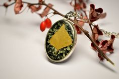 SALE Valentines Day, Yellow Leaf, Resin Pendant, Real Flower Necklace, Floral Necklace,Dried Leaf,Nature Jewelry,Gifts for her, Eco Jewelry by VITALIAart on Etsy
