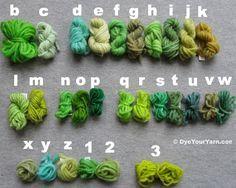 Wilton food dye and kool aide yarn dye formulas