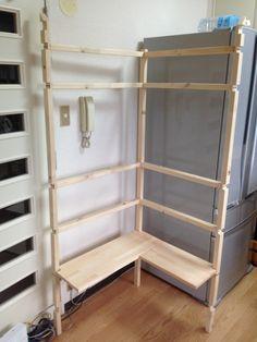 f:id:ll1a9o3ll:20140831173307j:plain Wood Projects, Ladder Decor, Bookcase, Shelves, Home Decor, Ideas, Fun Diy Crafts, Wood, Furniture