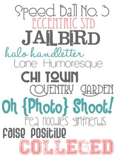 cute free fonts with links to download!