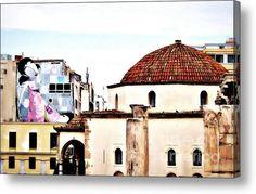 Athens 2007 Acrylic Print  #AcrylicPrint #art #cityview #athens #urban #architecture #greece #artprint #fineartamerica #fineartprints #home #decor #walldecoration #church #greekchurch #hdr #photography #mixedmedia #piaschneider