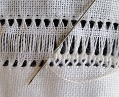 Basic Embroidery Stitches, Hand Embroidery Videos, Flower Embroidery Designs, Hardanger Embroidery, Embroidery Techniques, Cross Stitch Embroidery, Embroidery Patterns, Crochet Patterns, Cross Stitches