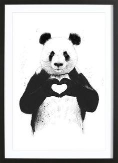 All You Need Is Love als Gerahmtes Poster von Balázs Solti | JUNIQE