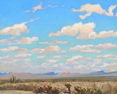 Maynard Dixon, Clouds of a Summer Afternoon, 1945, oil on canvas laid on board…