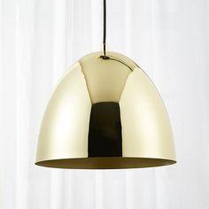 Capitol Small Brass Bell Pendant Light |