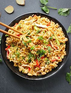 #easy #recipes / Ramen Noodle Stir Fry with Mushrooms