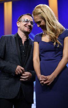 Bono and Jessica Alba