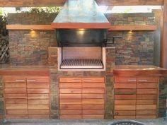 PERGOLAS Y QUINCHOS: quinchos Outdoor Kitchen Grill, Backyard Kitchen, Outdoor Kitchen Design, Outdoor Patio Designs, Outdoor Decor, Barbacoa, Outdoor Living, Bbq, Cottage