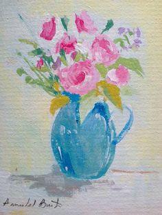 Original Acrylic Painting 'Jug of Roses' Signed