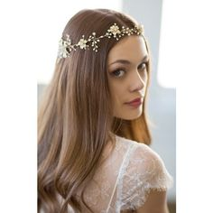 Women's Brides & Hairpins 'Atiena' Embellished Floral Motif Head Band ($260) ❤ liked on Polyvore featuring accessories, hair accessories, floral headbands, hair bands accessories, floral hair accessories, hair band headband and sparkly headbands