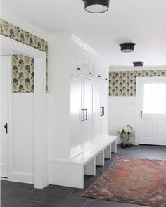Home Remodeling Mudroom Friday Inspiration: Our Top Pinned Images — STUDIO MCGEE - This week we're giving small spaces the love they deserve! Studio Mcgee, Home Renovation, Home Remodeling, Mudroom Laundry Room, Mud Room Lockers, Mud Room Garage, Mudroom Cabinets, Slate Flooring, Small Spaces