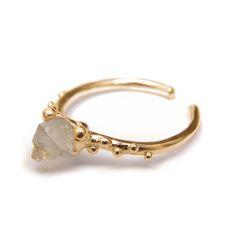 PinkMoss gold plated baby quartz ring www.pinkmoss-shop.com