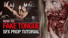 How-to: Fake tongue prosthetic (lol version) Movie Makeup, Scary Makeup, Sfx Makeup, Movie Special Effects, Special Effects Makeup, Halloween Make Up, Halloween Ideas, Halloween Costumes, Zombie Face Paint