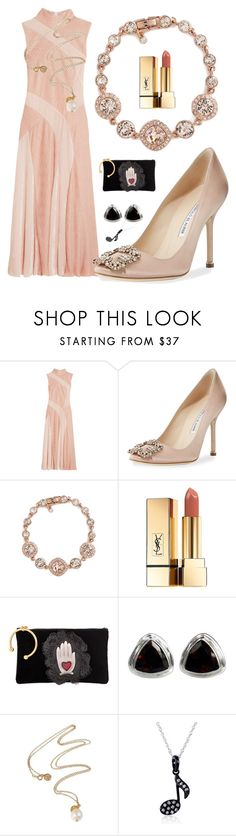 """Blush"" by rita257 ❤ liked on Polyvore featuring Adeam, Manolo Blahnik, Givenchy, Yves Saint Laurent, RED Valentino, NOVICA and Kobelli"