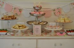 adorable tea party...love the banner