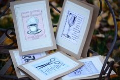 Homemade Cards with Gypsy Moments Sewn onto Burlap Sewn Cards by Canvas Corp #DIYCards #holidaygiftideas