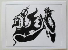 $3.99  Black White Fine ART Card Blank Untitled BY Jacek Witecki   eBay  #holiday #stationary #greetingcard