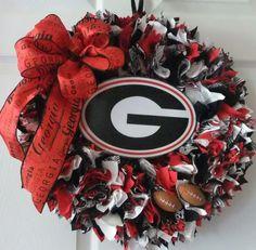 Team Spirit Wreath Georgia Bulldogs UGA by PJCreativeWreaths, $55.50