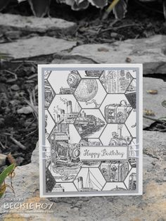 Stampin' Up! Traveler  Bloom Wit Hope; Hexagon Punch; Basic Gray  Smoky Slate