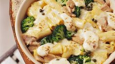Mit Thunfisch verfeinert: Nudelgratin mit Brokkoli und Mozzarella | http://eatsmarter.de/rezepte/nudelgratin-mit-brokkoli-und-mozzarella
