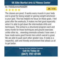 The classes are great.  It works every muscle in your body and is great for losing weight...