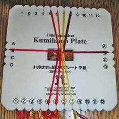 Kumihimo plate instructions