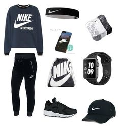 """""""#Nike"""" by omaimamassher on Polyvore featuring NIKE and plus size clothing"""
