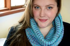 two color brioche in the round knit cowl with video to do the brioche st