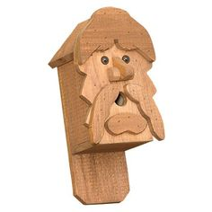 Amish Captain Face Rustic Birdhouse - $33