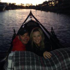 Gondola ride, Coronado Beach. Very romantic way to celebrate an anniversary