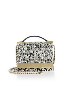 B BRIAN ATWOOD Ava Spotted Calf Hair Convertible Top-Handle Bag